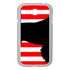 American Water Spaniel Silhouette Usa Flag Samsung Galaxy Grand Duos I9082 Case (white)