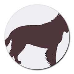 American Water Spaniel Silo Color Round Mousepads