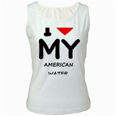I Love My American Water Spaniel Women s White Tank Top