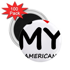 I Love My American Water Spaniel 2 25  Magnets (100 Pack)