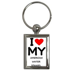 I Love My American Water Spaniel Key Chains (rectangle)