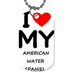I Love My American Water Spaniel Dog Tag (one Side)