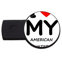 I Love My American Water Spaniel Usb Flash Drive Round (2 Gb)
