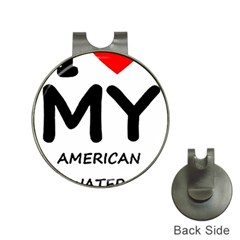 I Love My American Water Spaniel Hat Clips With Golf Markers