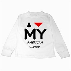 I Love My American Water Spaniel Kids Long Sleeve T Shirts