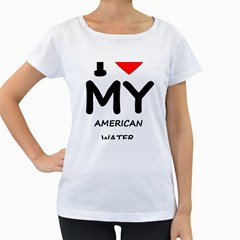I Love My American Water Spaniel Women s Loose Fit T Shirt (white)