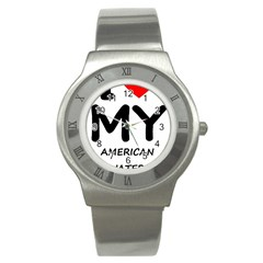I Love My American Water Spaniel Stainless Steel Watch