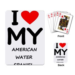 I Love My American Water Spaniel Playing Card