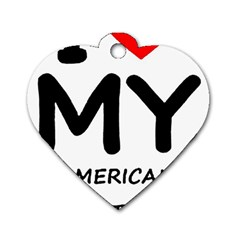 I Love My American Water Spaniel Dog Tag Heart (one Side)
