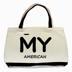 I Love My American Water Spaniel Basic Tote Bag (two Sides)