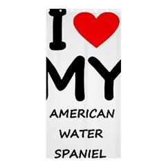 I Love My American Water Spaniel Shower Curtain 36  X 72  (stall)