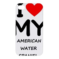 I Love My American Water Spaniel Apple Iphone 4/4s Premium Hardshell Case