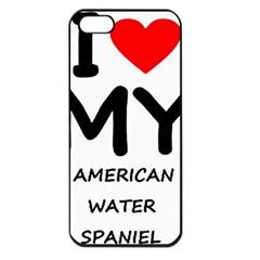 I Love My American Water Spaniel Apple Iphone 5 Seamless Case (black)