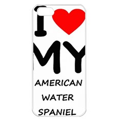 I Love My American Water Spaniel Apple Iphone 5 Seamless Case (white)