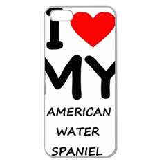 I Love My American Water Spaniel Apple Seamless Iphone 5 Case (clear)