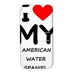 I Love My American Water Spaniel Apple Iphone 4/4s Hardshell Case With Stand