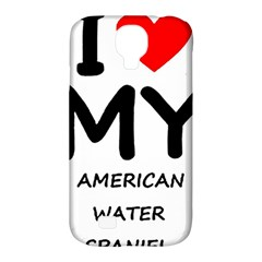 I Love My American Water Spaniel Samsung Galaxy S4 Classic Hardshell Case (pc+silicone)