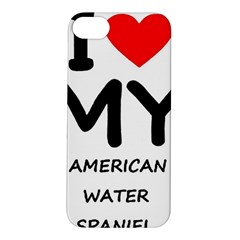 I Love My American Water Spaniel Apple Iphone 5s/ Se Hardshell Case