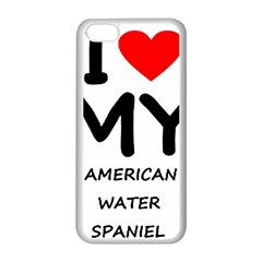 I Love My American Water Spaniel Apple Iphone 5c Seamless Case (white)