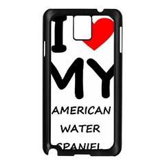 I Love My American Water Spaniel Samsung Galaxy Note 3 N9005 Case (black)
