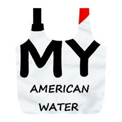 I Love My American Water Spaniel Full Print Recycle Bags (l)