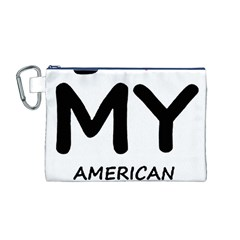 I Love My American Water Spaniel Canvas Cosmetic Bag (m)