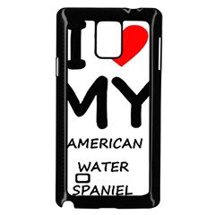 I Love My American Water Spaniel Samsung Galaxy Note 4 Case (black)