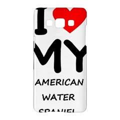 I Love My American Water Spaniel Samsung Galaxy A5 Hardshell Case