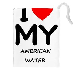 I Love My American Water Spaniel Drawstring Pouches (xxl)