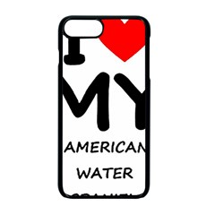 I Love My American Water Spaniel Apple Iphone 7 Plus Seamless Case (black)