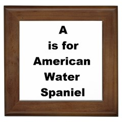 A Is For American Water Spaniel Framed Tiles