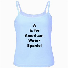 A Is For American Water Spaniel Baby Blue Spaghetti Tank