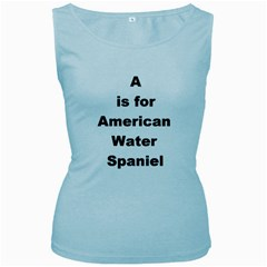 A Is For American Water Spaniel Women s Baby Blue Tank Top