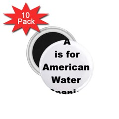 A Is For American Water Spaniel 1 75  Magnets (10 Pack)