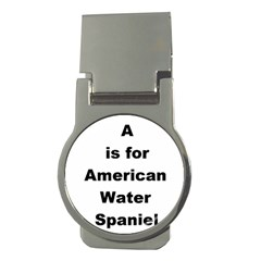 A Is For American Water Spaniel Money Clips (round)