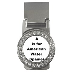 A Is For American Water Spaniel Money Clips (cz)