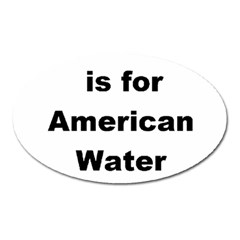 A Is For American Water Spaniel Oval Magnet
