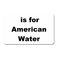 A Is For American Water Spaniel Magnet (rectangular)