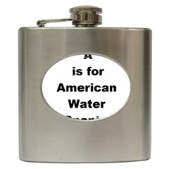 A Is For American Water Spaniel Hip Flask (6 Oz)