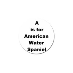 A Is For American Water Spaniel Golf Ball Marker (4 Pack)