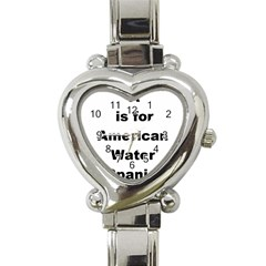 A Is For American Water Spaniel Heart Italian Charm Watch