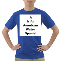 A Is For American Water Spaniel Dark T Shirt