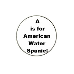 A Is For American Water Spaniel Hat Clip Ball Marker (4 Pack)