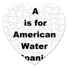 A Is For American Water Spaniel Jigsaw Puzzle (heart)
