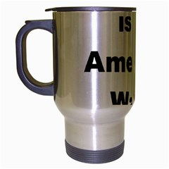 A Is For American Water Spaniel Travel Mug (silver Gray)