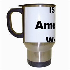 A Is For American Water Spaniel Travel Mugs (white)