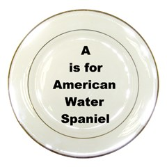 A Is For American Water Spaniel Porcelain Plates