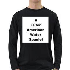 A Is For American Water Spaniel Long Sleeve Dark T Shirts