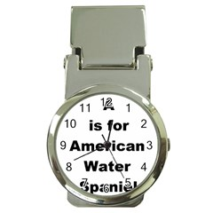 A Is For American Water Spaniel Money Clip Watches