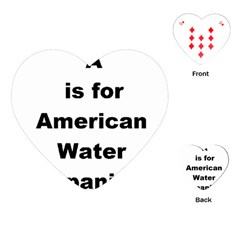 A Is For American Water Spaniel Playing Cards (heart)
